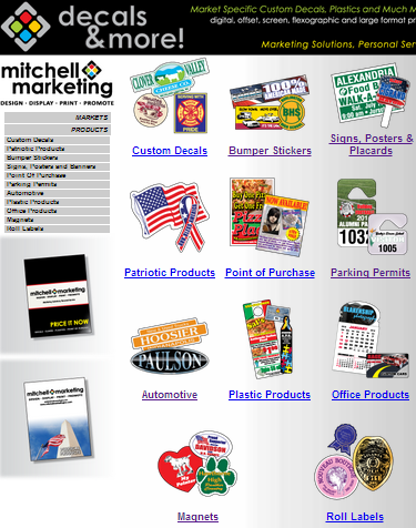Custom Decals, Parking Permits, Plastic Products, Custom Shaped Magnets, Roll Labels, Static Clings...